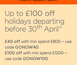 Up to £100 off Easyjet cheap holidays before 30th April 2018